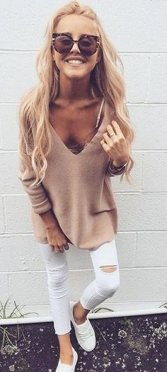 Outfits styled with Fall shades of oatmeal, camel & taupe prove that Beige is anything but boring! #fashionfiend #fall #winter✨ Jane Spring  |