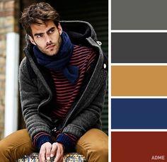 18Combinaciones ideales decolores para ropa masculina