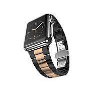 Best Apple Watch Bands | Ultracase: Stainless Steel Strap Bracelet ($67.15 w/ PROMO CODE) - Space Grey + Rose Gold