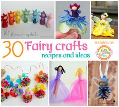 30 Fairy Crafts and Recipes for Your Little One Fairies love pretty flowers, magical dust, and tiny foods! We ™ve put together thirty fun fairy crafts and recipes just for that special little someone! Fantasy Craft, Fantasy Gifts, Fairy Tale Crafts, Fun Crafts, Crafts For Kids, Rosalie, Fairy Birthday Party, Flower Fairies, Fairies Garden
