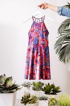 Summer Floral print dress #Biographyinspiration #summerdress