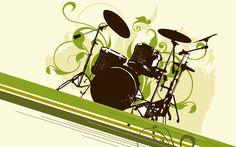 drum set wallpaper hd