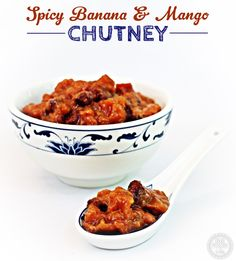 Spicy Banana & Mango Chutney is the perfect accompaniment to a curry or a cheeseboard. Fab Food 4 All