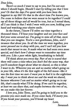 Dear John <3 this book is the greatest.... Made me cry like a baby