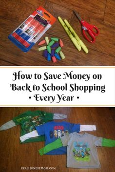 Back to School | Save money shopping for supplies, backpacks and school clothes every year