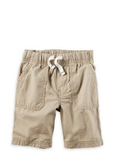 Carter's Boys' Pull-On Poplin Shorts Boys 4-7 - Tan/Khaki - 5