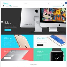 iShop - Electronic Devices Parallax Magento Theme