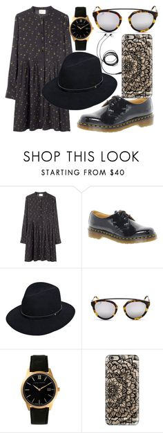 """""""Untitled #432"""" by rocksolana ❤ liked on Polyvore featuring Band of Outsiders, Dr. Martens, rag & bone, Larsson & Jennings, Casetify, women's clothing, women's fashion, women, female and woman"""