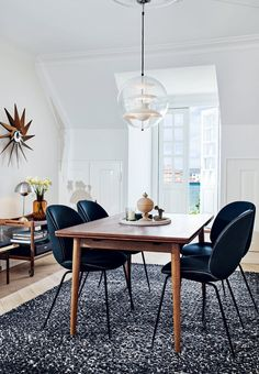 Unique padded Beetle-chairs from Gubi.