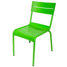 Add a splash of color to your deck or patio dining area with this BFM Seating MS802CLM Beachcomber lime aluminum outdoor / indoor side chair! Boasting a durable aluminum construction, this chair is corrosion resistant for long-lasting use and has a lime powder coating that won't wear out or fade as quickly as traditional paint. This is especially useful for outdoor use when the chair is exposed to bright sunlight or harsh weather conditions. It also has a slat design that helps preve...