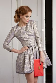 Patterned dress from Sylwia Majdan Christmas Collection