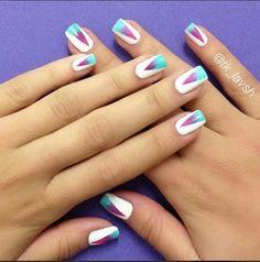 Ombre Coachella Nails by Natasha.