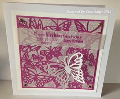 Handmade card. Butterflies on acetate with Imagination Crafts' Sparkle Medium.