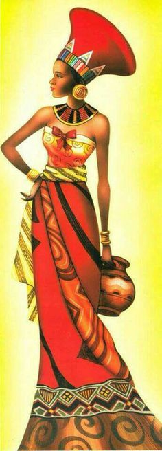 The African Queen African Beauty, African Women, African Fashion, Black Girl Art, Black Women Art, Afrique Art, African Art Paintings, Black Artwork, Afro Art
