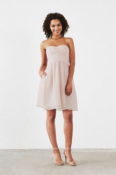 Dove & Dahlia Lily Bridesmaid Dress in Ivory in Chiffon