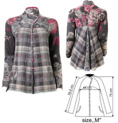 IVKO Woman`s Floral Tartan Wool Jacket Style 42604-018 in GREY. Combine a sweater with a jacket?