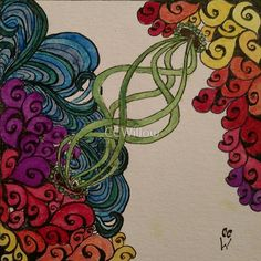 Tendrils Zentangle 311 now available on RedBubble