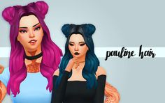 Hello everyone! So here is my new hair that I love so much omg! when I saw michelle phan with this wig I tought I had to make it for the sims, and I didn't think it would look good but I just love it!...