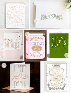 Oh So Beautiful Paper: Seasonal Stationery: Mother's Day Cards, Part 3 Best Mothers Day Cards, Happy Mothers Day, Invitation Design, Invite, Invitations, Sycamore Street, Mother Dearest, Box Studio, Dad Day