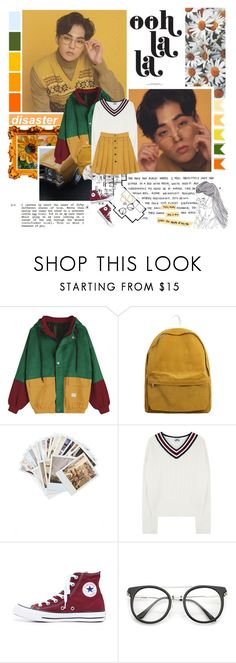 """""""The rule here is just to enjoy (Tonight) ... ♪"""" by followmiiin ❤ liked on Polyvore featuring Chronicle Books, Converse, Henri Bendel and vintage"""