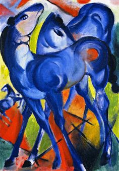 lyghtmylife:  Franz Marc [GermanExpressionistPainter, 1880-1916] The Blue Foals, 1913 oil on canvas Kunsthalle Emden