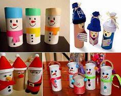 Navidad con material reciclable