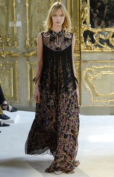 Giamba #fringe #embroidery #lace #print #maxi dress