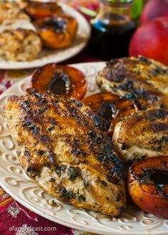 Grilled Basil Garlic Chicken