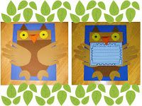 Don't Pollute, Give a Hoot Craftivity!
