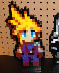 Final Fantasy 7 PSX CLOUD STRIFE Lego Sprite by xelzor on Etsy, $30.00