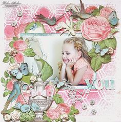 """Layout featuring """"Botanical Tea"""" collection from Graphic 45 by Robin Shakoor."""