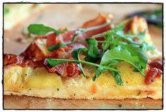 brotbackliebeundmehr - Foodblog - Pizza Bianca mit Kartoffeln, Bacon und Rucola