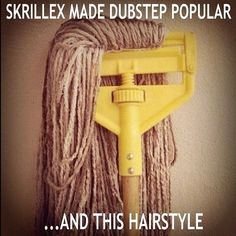 I couldn't help it  #haha xD  #Skrillex #mop #funny #lol #dubstep #edm #cleaningsupplies #kml #dj  Top Commercial Cleaning Service In Portland, Oregon - CelticCleaning.net