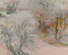 Georgia O'Keeffe. Trees Abiquiu IV