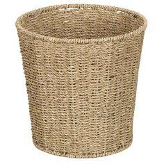 Household Essentials Seagrass Waste Bin (Seagrass Waste Bin), Brown