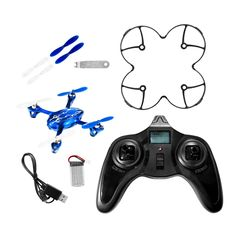 - New Hubsan X4 H107C RC quadcopter with 2 MP HD Camera: Recording module - Latest 6-axis flight control system with adjustable gyro sensitivity; Beginner and Expert flight modes - 2.4 Ghz Transmitter