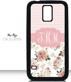 Cute Galaxy S5 Case Flower Pattern Samsung Galaxy by NuAgeProducts, $13.23