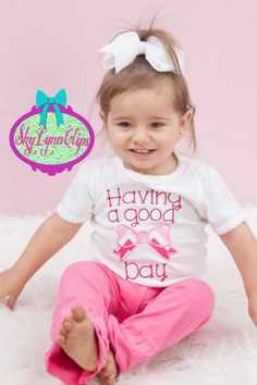 Good Bow Day Cap Sleeved Baby Toddler Girl Shirt by SkyLynnClips, $22.00