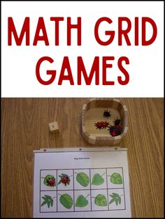 These grid games will help Pre-K and Preschool kids practice math skills: one-to-one correspondence, counting, numeral recognition, and subtilizing.
