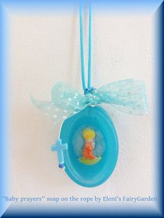Baby Prayers soap on a rope by Eleni by ElenisLittleShop on Etsy