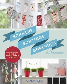 Festive and eye-catching, banners, buntings, garlands, and pennants add visual fun to almost any type of celebration or space. These 40 quick and easy projects-- made of paper, fabric, felt, and more-- make beautiful displays. Use them for special events, for holidays, when entertaining, or even just to spice up a room. A basics section gives beginners a primer on the materials and techniques they need.