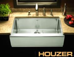 Houzer Epicure X Farmhouse Single Bowl Kitchen Sink