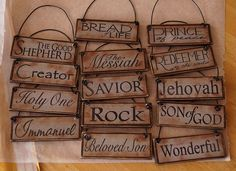 Creative Chicks: Names of Christ Ornaments