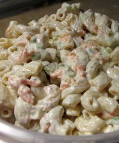 Recipe for Hawaiian Macaroni Salad - Highly addicting and FULL of flavor, this macaroni would easily be at home here in the Deep South amidst some pork ribs or pulled pork sandwiches!