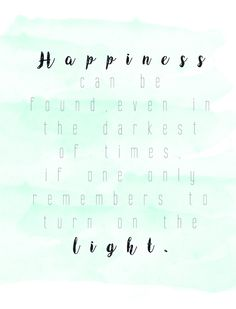 Happiness Quote On Watercolor