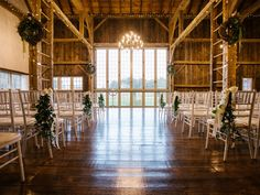 Fall Brandywine Manor House wedding in Honey Brook, Pennsylvania. This is a beautiful rustic venue with an amazing indoor barn for ceremonies and more! House Property, Twinkle Lights, Photo Credit, Wedding Ceremony, Wedding Decorations, October, Barn, Chandelier, Loft