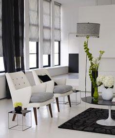 black white and gray loft