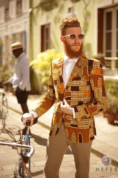 Bold, to say the least. Definitely works with this guy's overall style and look.
