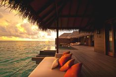 Maldives... love the hammock over the water!