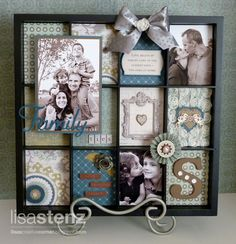 Altered CTMH Display Tray using Avonlea Paper Collection